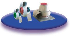 ventilateur centrifuge polypropylène